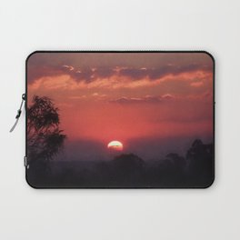 Sweet Pink Orange Sunset Laptop Sleeve
