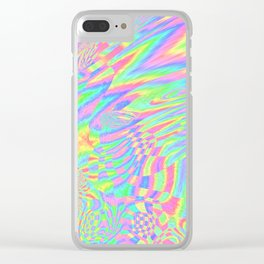Rainbow Fuster Cluck Clear iPhone Case
