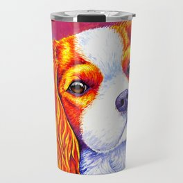 Autumn Delight - Colorful Cavalier King Charles Spaniel Travel Mug