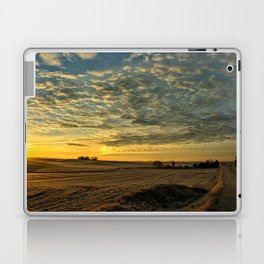 Winter Roads And Sunrises Laptop & iPad Skin