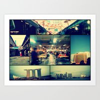 singapore Art Prints featuring Singapore by Tal Bright
