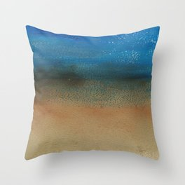 Fantasy of Water and Sand Throw Pillow