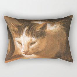 Cat in the art – Le brun – The sleep of the baby Jesus. Rectangular Pillow