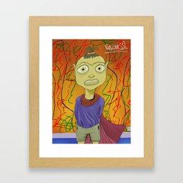 """Crayola"" Illustrated by Kieran David Framed Art Print"