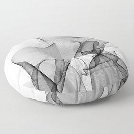 Smoked lines Floor Pillow