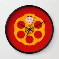 russian Wall Clocks featuring Russian Roulette by John Tibbott