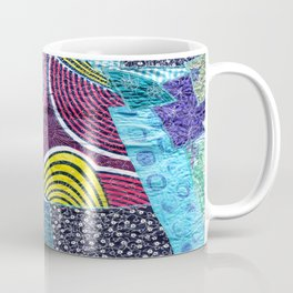 Machine Embroidery in Blues Coffee Mug