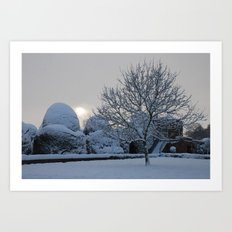 The quiet place in snow Art Print