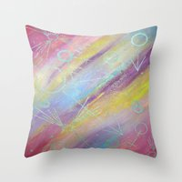 equality Throw Pillows featuring EQUALITY by Valentinas Vanity Artwork