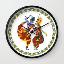 Shiva Parvati Pixel Art Wall Clock