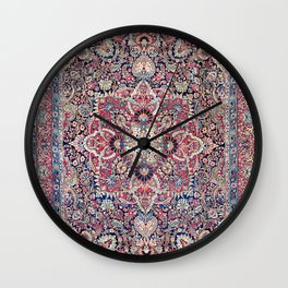 Kashan Central Persian Rug Print Wall Clock