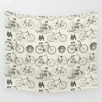 bicycles Wall Tapestries featuring Vintage Bicycles by Thinx Shop