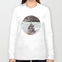 allyson johnson Long Sleeve T-shirts featuring Johnson Canyon Inukshuk by RMK Creative