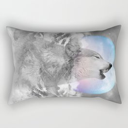 Maybe the Wolf Is In Love with the Moon Rectangular Pillow