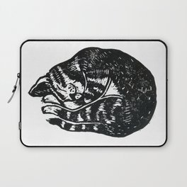 Sleeping Cat - Lino Laptop Sleeve