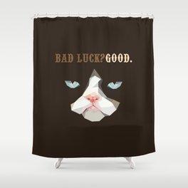 Grumpy Bad Luck Cat Shower Curtain