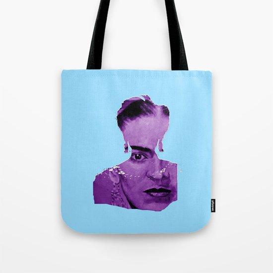 FRIDA - shirt version - blue/purple Tote Bag