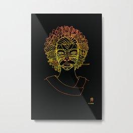 Masque de La Bergère - Noire Metal Print