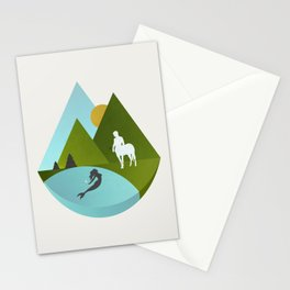 The Mermaid and the Centaur Stationery Cards