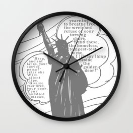 The New Colossus Wall Clock