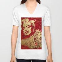sriracha V-neck T-shirts featuring Some Like It Hot by Matt Pecson