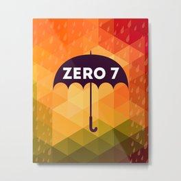 Zero 7 Poster - Sia Furler Mozez Jose Gonzalez Umbrella Print Rain Metal Print