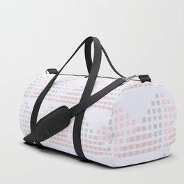 Layered Geometric Block Print in Pastel Duffle Bag