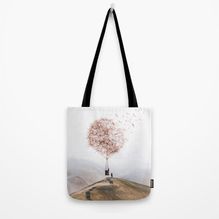 Flying Dandelion Tote Bag