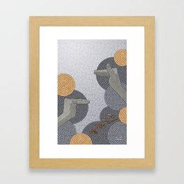 Hope Opens Heaven - (Artifact Series) Framed Art Print