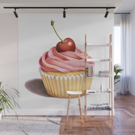 The Perfect Pink Cupcake Wall Mural