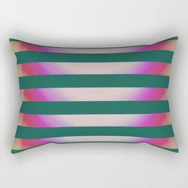 Teal Stripes Rectangular Pillow