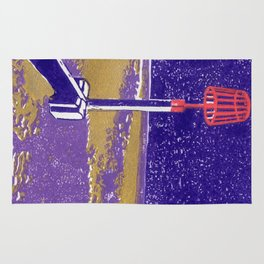 Seaview Fire Beacon in Purple Rug