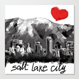 I love Salt Lake City Canvas Print