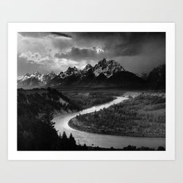 Ansel Adams - The Tetons and Snake River Art Print