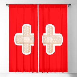 First Aid Plaster Blackout Curtain