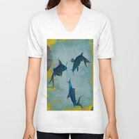 koi V-neck T-shirts featuring Koi  by Saundra Myles