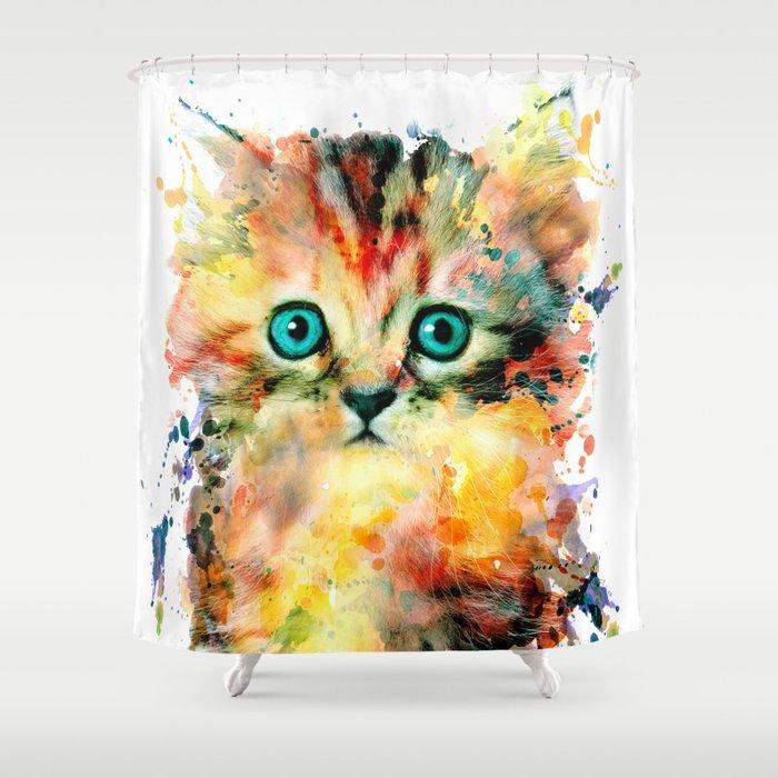 Kitten Shower Curtain By Rizapeker