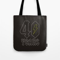 acdc Tote Bags featuring ACDC/40 Years by Byway