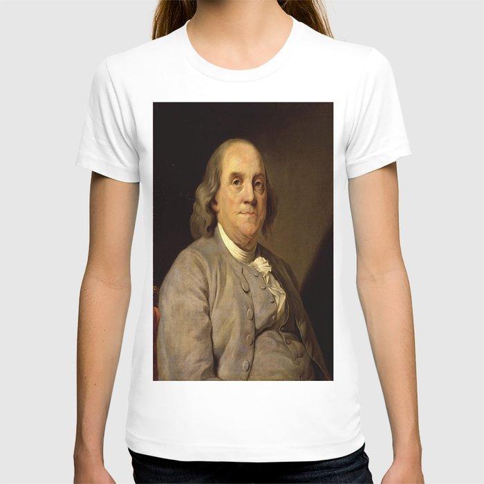 portrait of Benjamin Franklin by Joseph Duplessis T-shirt