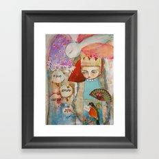 Your story matter - girl and bird inspirational art Framed Art Print