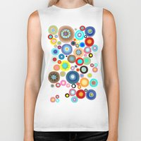contemporary Biker Tanks featuring Contemporary Circles by Ruth Fitta Schulz