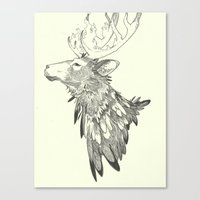 stag Canvas Prints featuring Stag by Breakell