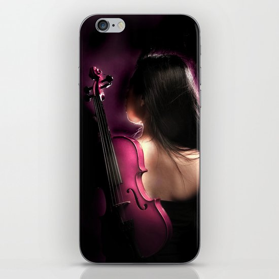VIOLIN WOMAN iPhone & iPod Skin