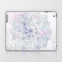 Marble Mandala - Purple Blue Rose Gold Laptop & iPad Skin
