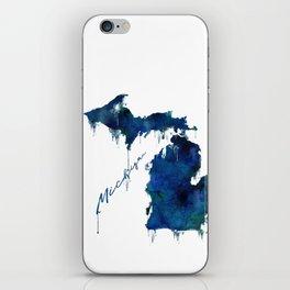 Michigan - wet paint iPhone Skin