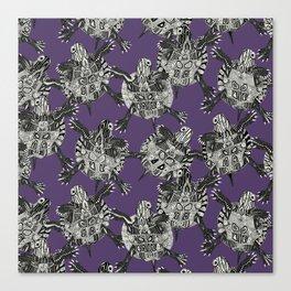 turtle party violet Canvas Print