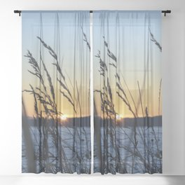Sunset Sea Grass Sheer Curtain