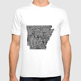 Typographic Arkansas T-shirt