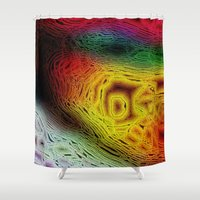 sofa Shower Curtains featuring Sahel Kazemi's Sofa II by RingWaveArt