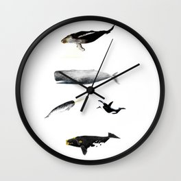 Whales Group of Five Images Wall Clock
